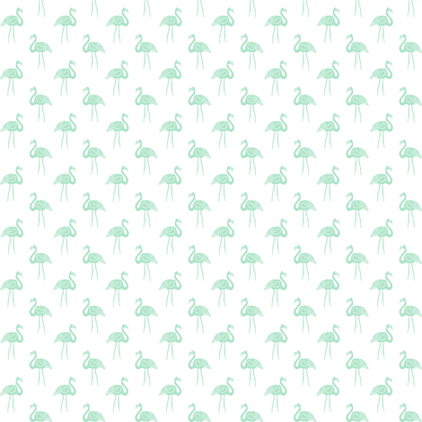flamingo fabric // simple tropical summer preppy flamingo design by andrea lauren - mint on white fabric by andrea_lauren on Spoonflower - custom fabric