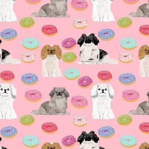 Pekingese dog breed donuts pink