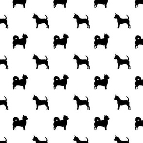 long haired chihuahua silhouette fabric smooth and long coat dog fabric