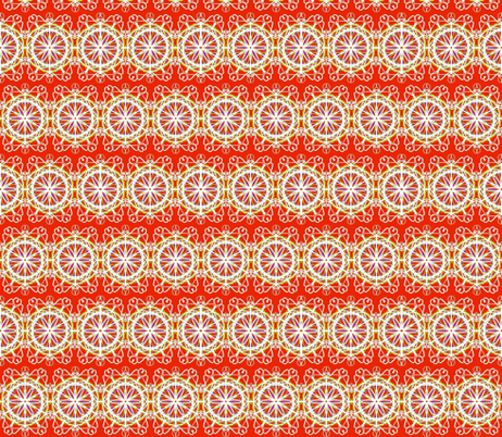Starflower Lacework on Nasturtium fabric by rhondadesigns on Spoonflower - custom fabric