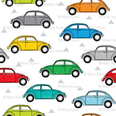 multi-color cars side view