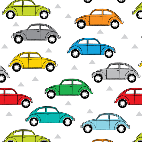 multi-color cars side view fabric by lilcubby on Spoonflower - custom fabric