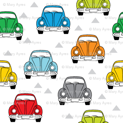 multi-color cars front view