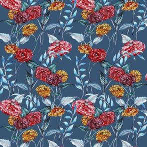 Oriental Bloom - Blue