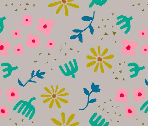 Matisse's Garden at Day fabric by bashfulbirdie on Spoonflower - custom fabric