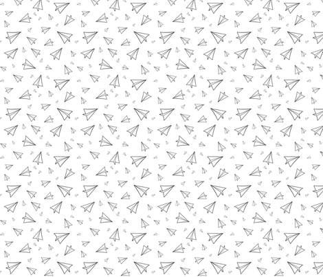 Paper Planes fabric by peneloperae on Spoonflower - custom fabric
