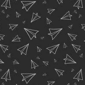 Paper Planes Black Background
