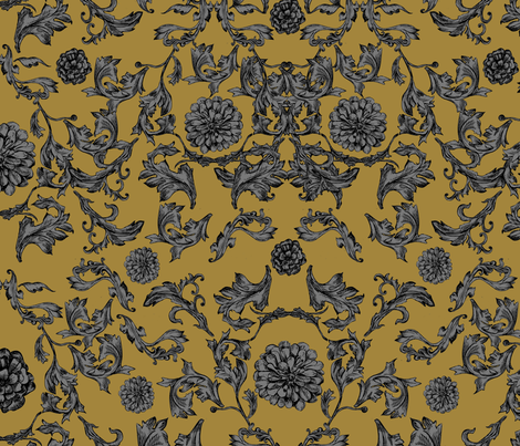 Floral Baroque fabric by gingergrizzly on Spoonflower - custom fabric