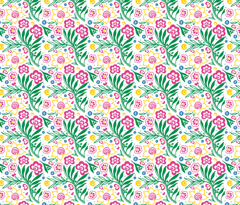 Papercut Garden fabric by gigi_and_mae on Spoonflower - custom fabric