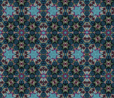 A night on the Spanish Tiles fabric by floramoon on Spoonflower - custom fabric