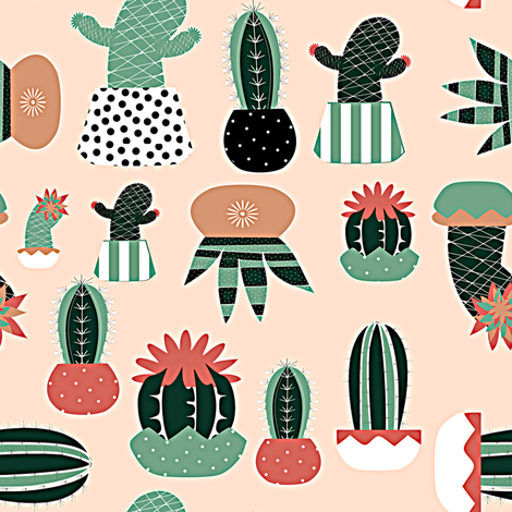 Cactus fabric by bruxamagica on Spoonflower - custom fabric