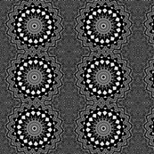 black and white mandala drawing