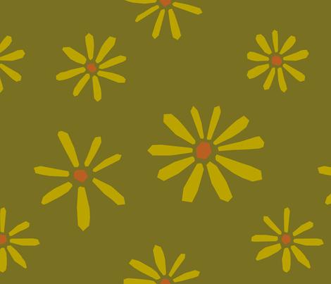 Darling Daisies fabric by bashfulbirdie on Spoonflower - custom fabric