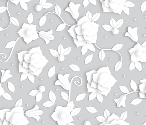 Paper Florals fabric by jody_mcmullen on Spoonflower - custom fabric