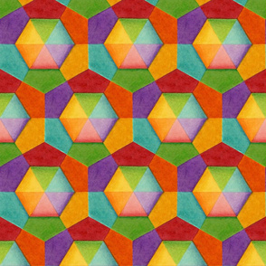 Rainbow Hexagons