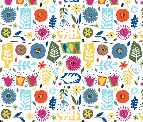 Matisse's Garden fabric by gracedesign on Spoonflower - custom fabric