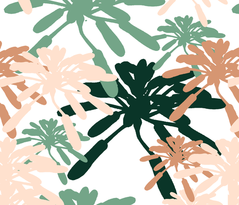 Succulent_Floral_Succulentia_Anastasia_ fabric by pattern_garden on Spoonflower - custom fabric