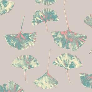 Ginkgo Leaves. Mushroom