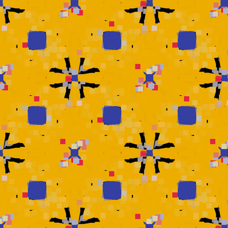 Pixel Flor fabric by david_kent_collections on Spoonflower - custom fabric