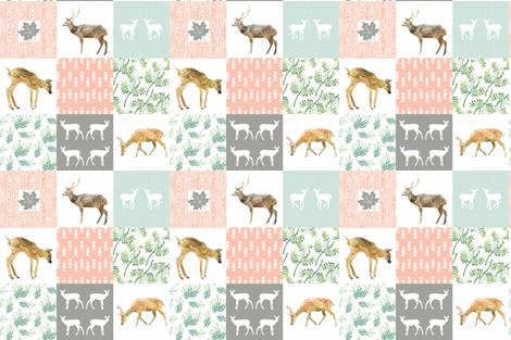 "WOODLANDS PETAL PINK 6"" fabric by moosedesigncompany on Spoonflower - custom fabric"