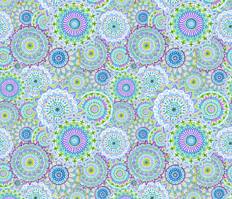 Mandala-Daze-Purple-pattern fabric by julistyle on Spoonflower - custom fabric