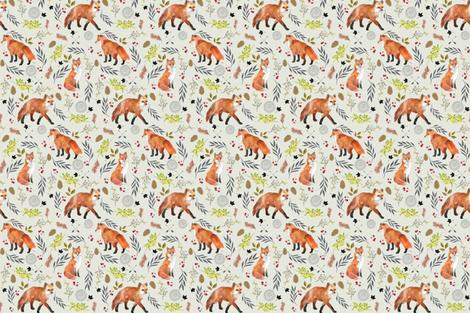 FOX FOREST fabric by moosedesigncompany on Spoonflower - custom fabric