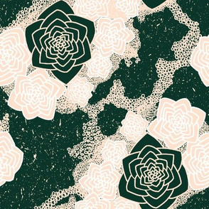 Desert Flower - Dark Green