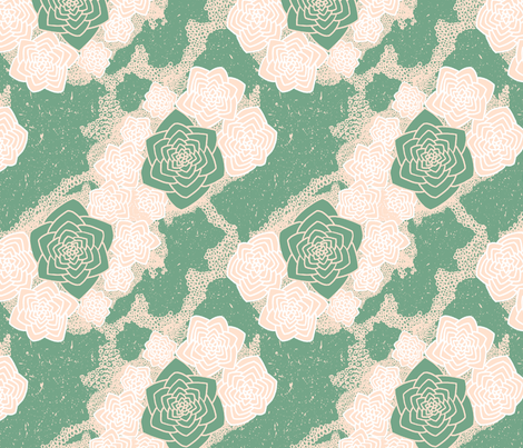 Desert Flower - Sage fabric by designsidestudio on Spoonflower - custom fabric