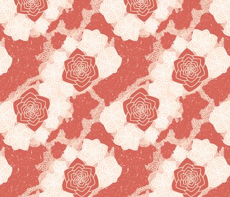 Desert Flower - Rhubarb fabric by designsidestudio on Spoonflower - custom fabric