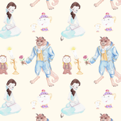 Tale as Old as Time - Off White Background - Big