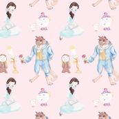 Tale as Old as Time - Pink Background - Big