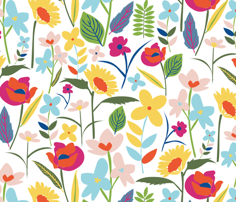 paper_cut_floral fabric by laurenthomasdesigns on Spoonflower - custom fabric