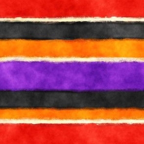 Soft Watercolor Stripes in Red Orange Purple Black