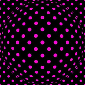 Pink Dots on Black Op Art