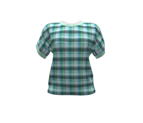 Blue green plaid checkered