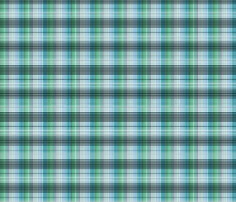 Blue green plaid checkered fabric by fuzzyfox on Spoonflower - custom fabric