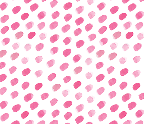 watercolour ovals pink fabric by emmalouisewilson on Spoonflower - custom fabric