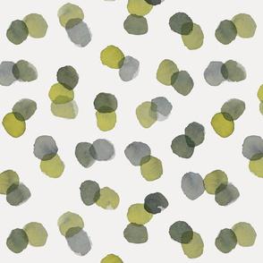 mossy watercolour dots