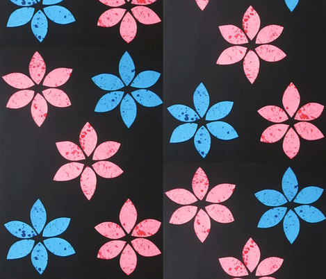 flower_splash fabric by designs_by_ne on Spoonflower - custom fabric
