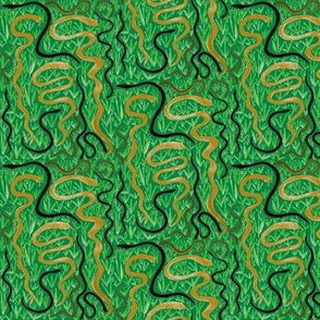 Slithering in the Grass on Rainforest Green - Medium Scale