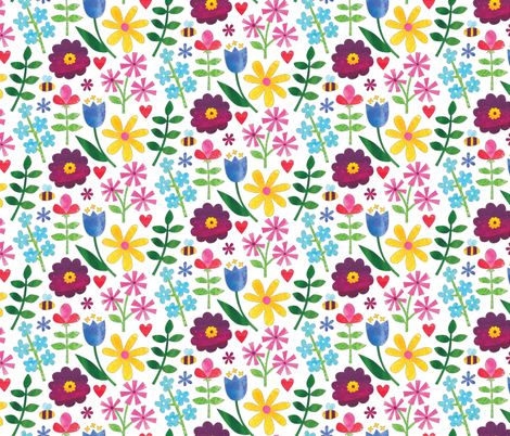 Paper Garden fabric by designs_by_lisa_k on Spoonflower - custom fabric