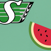 RIDER PRIDE WATERMELON ROUGHRIDERS CFL SASKATCHEWAN ALOHA
