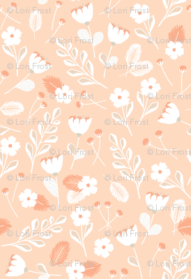 Modern Florals // Bloom Sketches in Blush and Gray