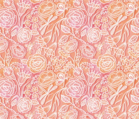 Spring cut flowers fabric by vo_aka_virginiao on Spoonflower - custom fabric