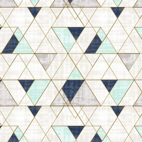 Mod Triangles Navy Mint