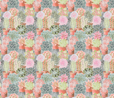 mon_jardin_de_succulents_M fabric by nadja_petremand on Spoonflower - custom fabric