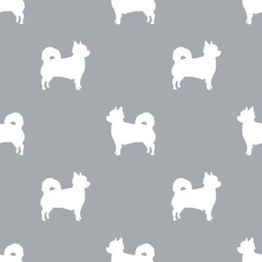 Chihuahua longhaired silhouette dog breed pattern grey