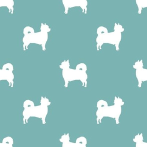Chihuahua longhaired silhouette dog breed pattern gulf blue