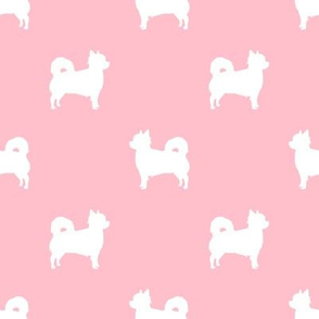 Chihuahua longhaired silhouette dog breed pattern pink