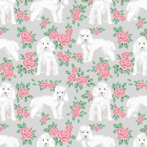 Toy Poodle rose florals fabric pattern dog breed 1